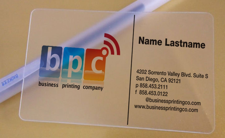 plastic business cards - Business Card Printing San Diego